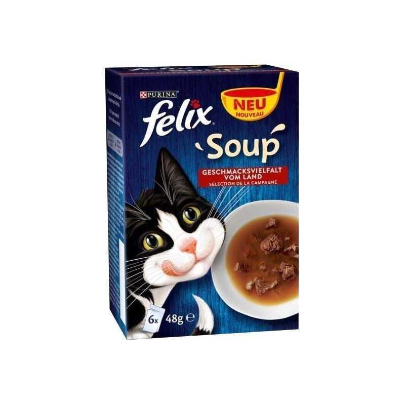 FELIX Soup 8(6x48g) s hovězím, kuřetem a jehněčím