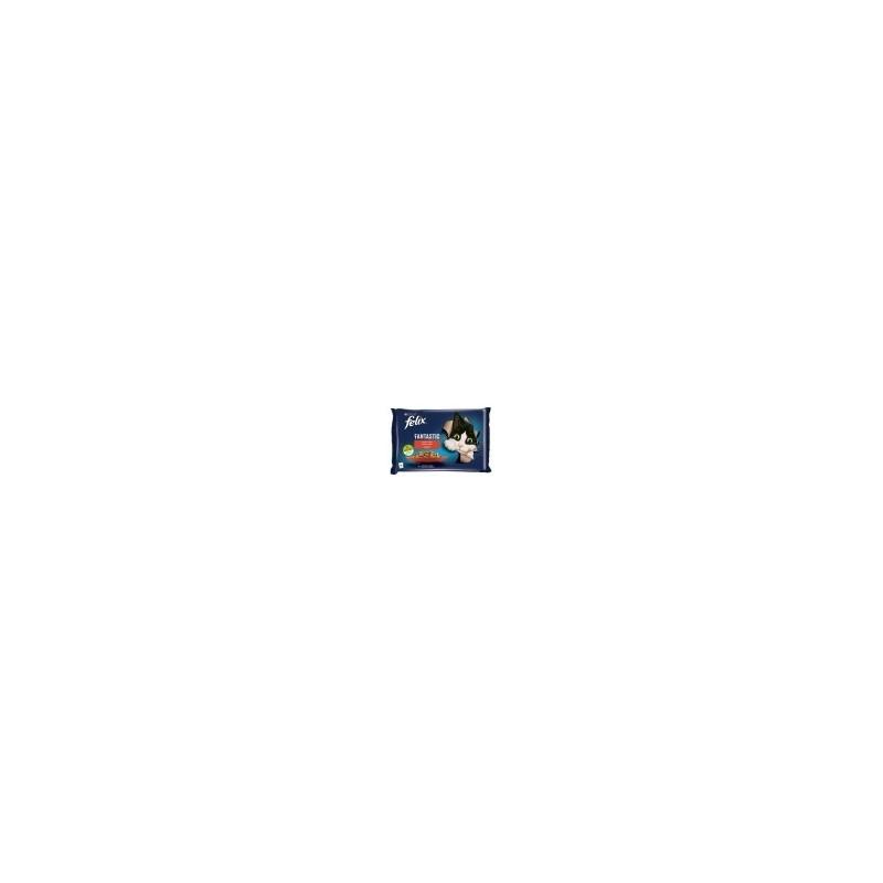FELIX kapsička 4x85g s hovězím a kuřetem v želé